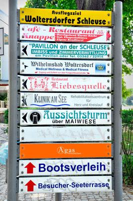 Woltersdorf - Wegweiser
