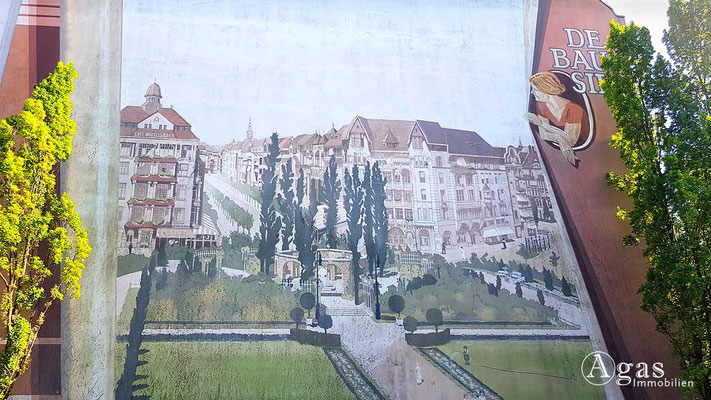 Immobilienmakler Bayerisches Viertel - Fassadenmalerei an der Rosenheimer Straße