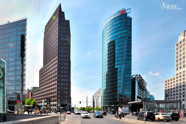 Immobilienmakler Berlin-Mitte-Tiergarten, Potsdammer Platz, Hochhäuser