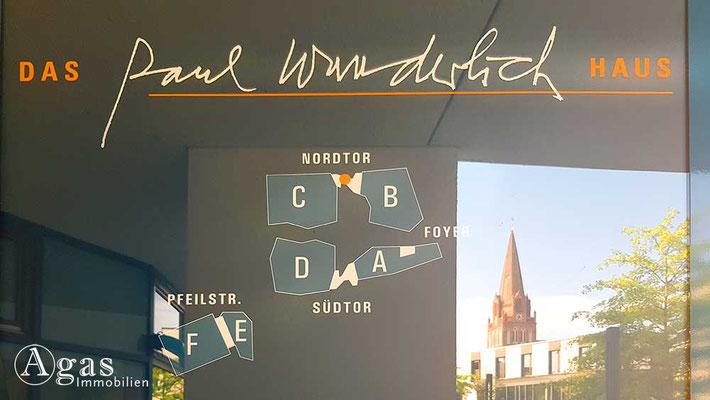 Immobilienmakler Eberswalde - Eingang Paul-Wunderlich-Haus
