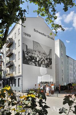 Prenzlauer Berg - Schwedter Straße - Verlauf der Berliner Mauer