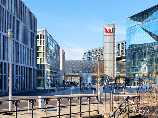 Immobilienmakler Berlin-Moabit - Rahel-Hirsch-Straße am Hauptbahnhof