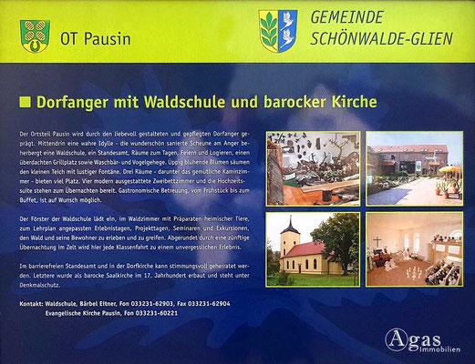 Makler Schönwalde-Glien OT Pausin - Gemeindeinformation