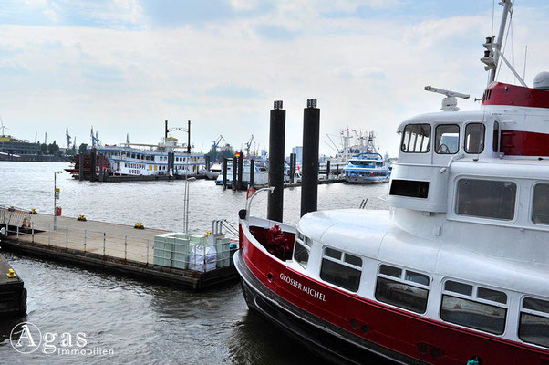 Hamburg - Niederhafen an der Elbpromenade