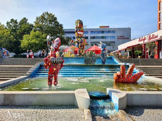 Immobilienmakler Frankfurt (Oder) - Comic-Brunnen auf dem Brunnenplatz