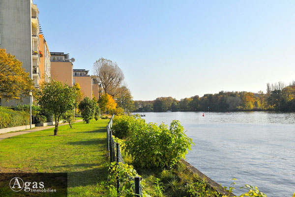 Haven Studios Berlin - Am Uferweg - Blick über die Spree zur Köpenicker Altstadt