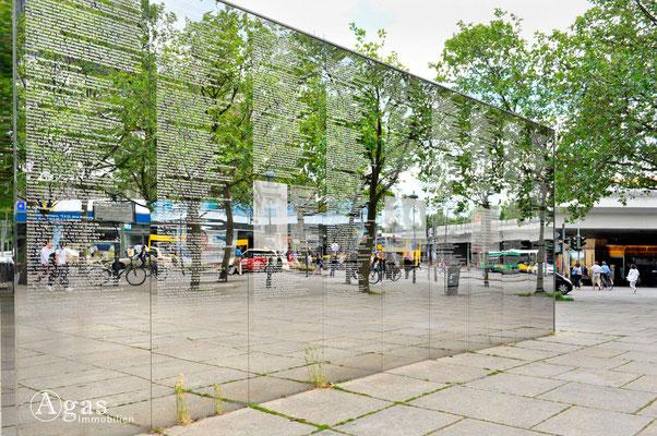 Berlin-Steglitz - Steglitzer Spiegelwand, Stiftung Denkmal (Denkzeichen Ehemalige Synagoge Haus Wolfenstein)