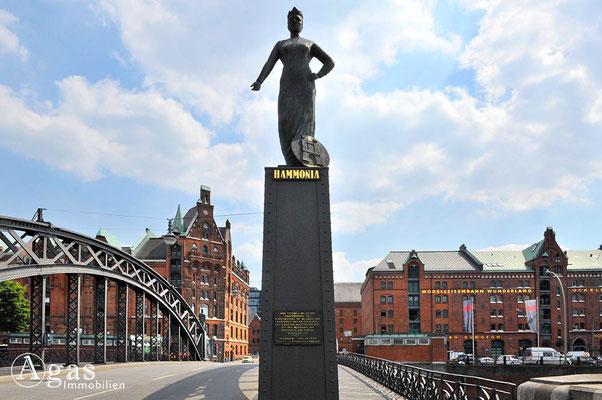 Hamburg - Brooksbrücke - Hammonia von Jörg Plickat