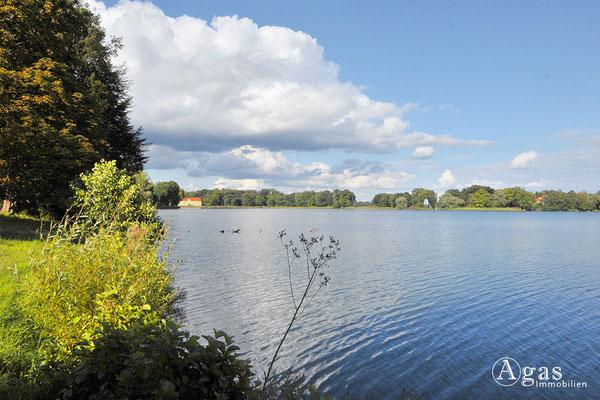 Immobilienmakler Potsdam - Blick über den Heiligen See zum Grünen Haus