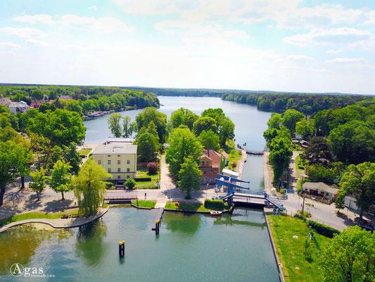 Woltersdorf - Luftbild an der Schleuse