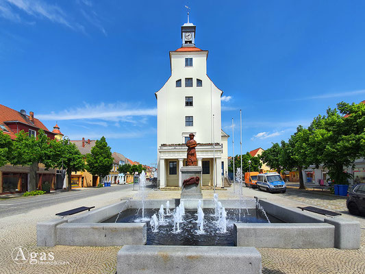 Immobilienmakler Treuenbrietzen - Rathaus & Brunnen