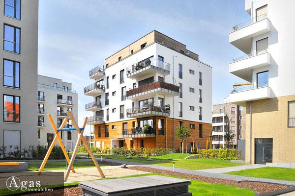 Wohnquartier UFERKRONE Köpenick, erster Innenhofbereich