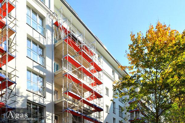 Quartier Nikolsburg - Berlin-Wilmersdorf - Gartenseitiger Blick auf die Baufortschritte