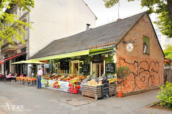 Originelles Obst- und Gemüsegeschäft in der Bölschestraße