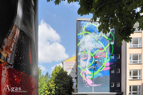 Prenzlauer Berg - Kunst am Bau - Brandmauer Schönhauser Allee Ecke Stargarder Str.