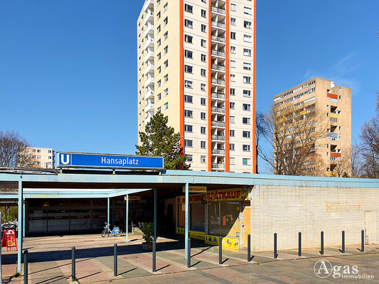 Immobilienmakler Hansaviertel - U-Bahnhof Hansaplatz