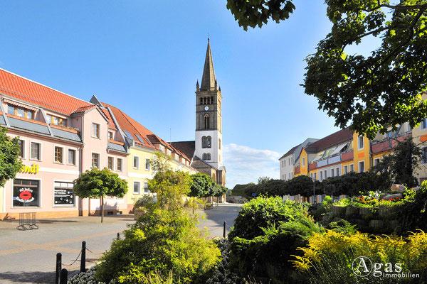 Blick zur Ev. Stadtkirche St. Nickolai