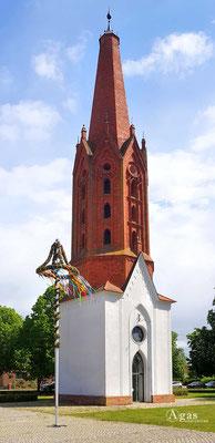 Immobilienmakler Letschin - Schinkelturm & Ev. Kirche Letschin