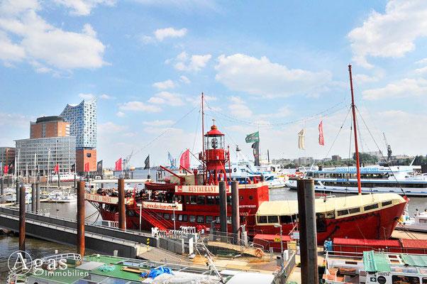 Hamburg - Das Feuerschiff - Elbpromenade