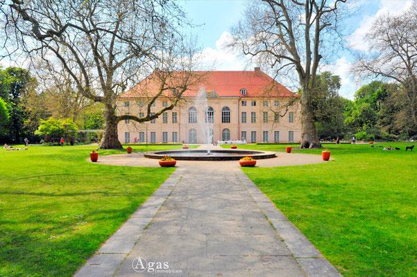 Berlin-Pankow - Schloss Schönhausen, Gartenansicht