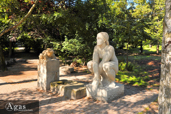 Templiner Park - Tröpfelbrunnen auf dem Teutoburger Platz