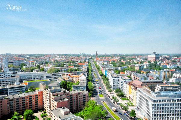 Berlin-Charlottenburg - Blick vom Telekom Innovation Laboratories in Richtung Westen