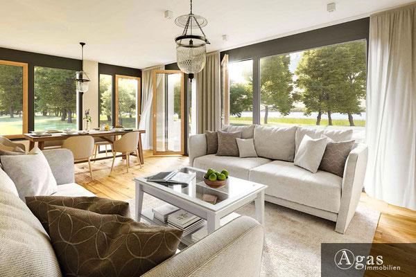 Am Pätzer See - Eigentumswohnungen - Salon mit großen Fenstern