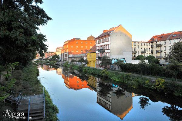 Brandenburg (Havel) - Der Stadtkanal an der Sankt-Annen-Promenade
