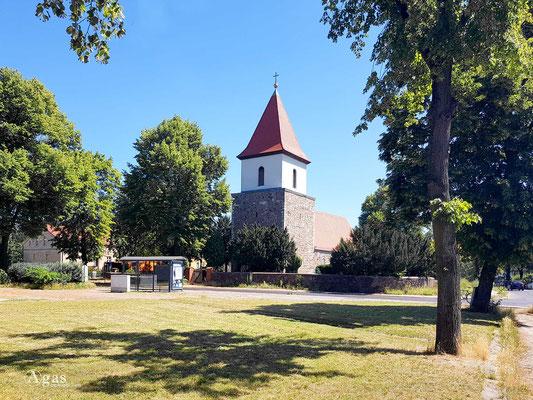 Immobilienmakler Blankenburg (Berlin) - Bushaltestelle Alt-Blankenburg am Krugsteg gegenüber der Dorfkirche