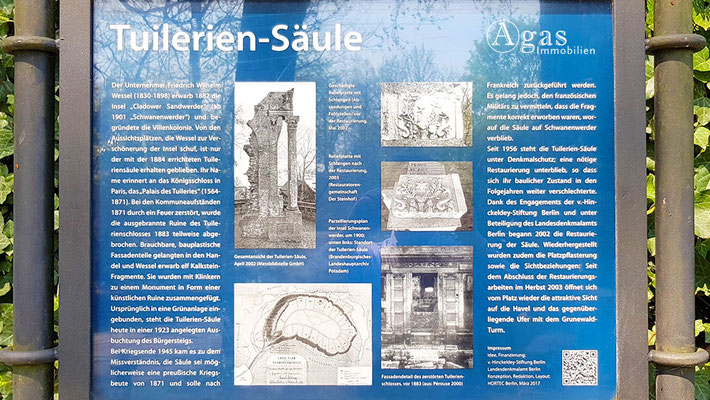 Schwanenwerder - Ruinenreste des zerstörten Palais des Tuileries