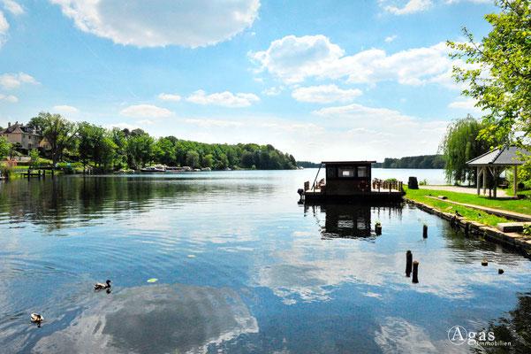 Woltersdorf - Blick auf den Flakensee