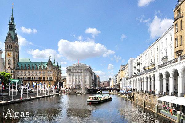 Hamburg - Auf der kleinen Alster (Jungfernstieg)