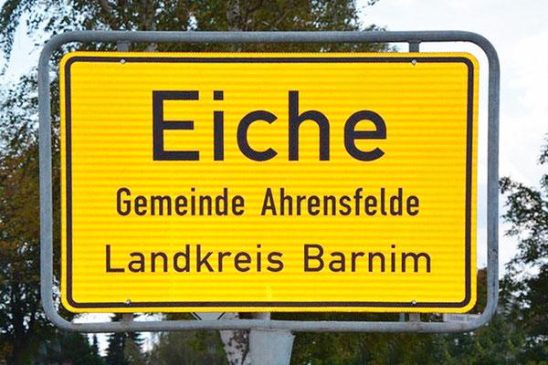 Ortseingang Eiche in Barnim