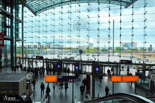 Berlin-Mitte-Tiergarten - Berlin Hauptbahnhof, Blick zum Washingtonplatz (2)