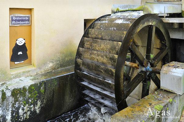 Mühlenbeck - Neues Mühlenrad in Mönchmühle