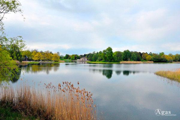 Berlin-Britz - Hauptsee mit Blick zu den Seeterrassen