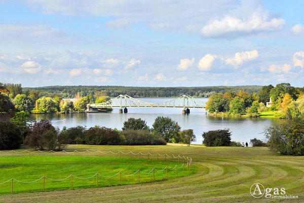 Immobilienmakler Babelsberg - Im Park Babelsberg - Blick zur Glienicker Brücke und zur Havel