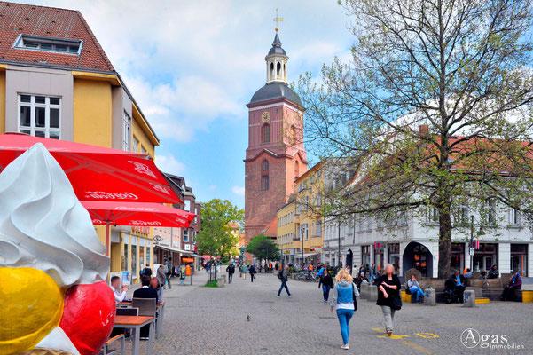Berlin-Spandau - Altstadt, Blick zur Ev. Kirche St. Nikolai