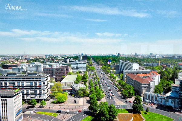 Berlin-Charlottenburg - Blick vom Telekom Innovation Laboratories in Richtung Osten