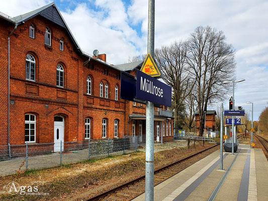 Immobilienmakler Müllrose - Bahnhof Müllrose RB36 NEB