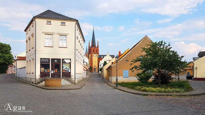 Immobilienmakler Werder (Havel) - Blick in die Kirchstraße