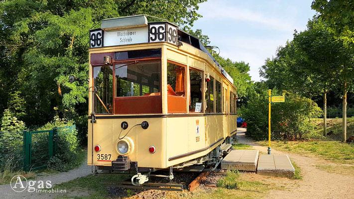 Makler Kleinmachnow - Museumsbahn Nr. 3587 der Linie 96 (Mitteleinstiegswagen, 1927)