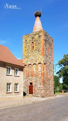 Altlandsberg - Strausberger Torturm mit Storchenkamera