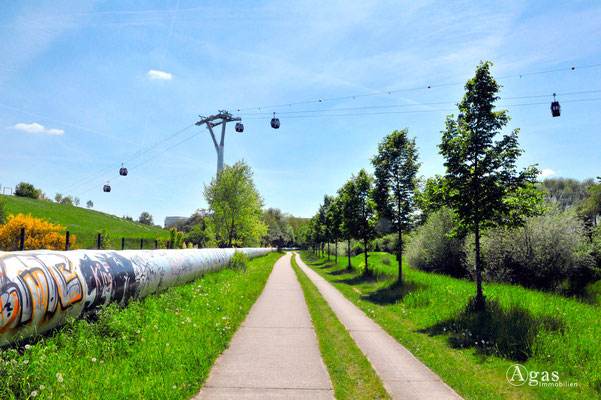 Berlin-Marzahn - Seilbahn zum Kienberg im Rohrbruchpark