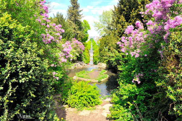 Berlin Kreuzberg - Viktoriapark Wasserfälle am Nationaldenkmal für die Befreiungskriege (1)