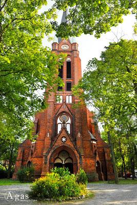 Berlin-Rummelsburg - Ev. Paul-Gerhardt-Kirche, Turmseitig