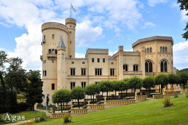 Potsdam - Park Babelsberg - Das neogotische Schloss von Süden