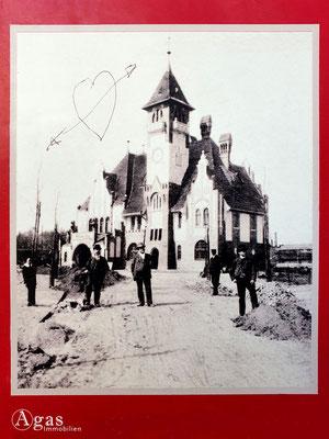 Immobilienmakler Nikolassee - Historisches Bild vom Bau der S-Bahnstation Nikolassee