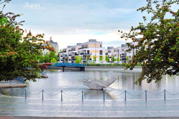 Berlin-Tegel - Wohnen direkt am Wasser, auf der Tegeler Insel