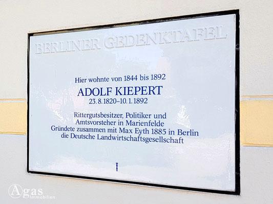 Immobilienmakler Marienfelde - Gedenktafel für Adolf Kiepert